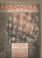 journal LES ANNALES , premi�re alerte : l'Alsace-Lorraine de 1871 � 1914 , militaria , 7 mars  2015 , frais fr : 2.50�