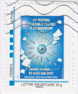 Timbre Personnalisé 24ème Festival De La Carte Postale Et Du Graphisme - Enghien Les Bains 2 Et 3 Juin 2012 - Personnalisés (MonTimbraMoi)