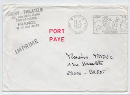 1981 - ENVELOPPE EN PORT PAYE Avec MECA PP De ANDORRE LA VIEILLE (ANDORRE)