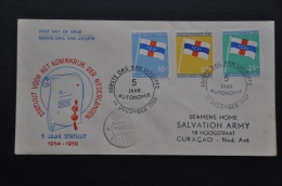M3 ++ NEDERLANDSE ANTILLEN FDC 1959 E12 GESLOTEN KLEP - Curaçao, Nederlandse Antillen, Aruba