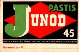 Pastis Junod 45 Carte De Visite 12x8cm - Cartes De Visite