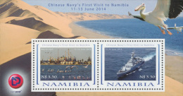 nam14106b Namibia 2014 China Navy's First Visit Ship s/s Pelican Bird
