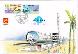 Norwegen 1992, Michel# 1094 - 1095 O Maximumkarte Zur EXPO 1992 - Maximumkarten (MC)