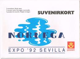 Norwegen 1992, Michel# 1086 O Souvenirkarte Zur EXPO 1992 - Maximumkarten (MC)