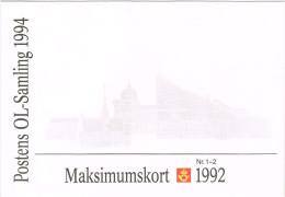 Norwegen 1992, Michel# 1105 - 1106 O Maximumkarten 1 - 2 - Maximumkarten (MC)