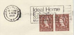1969 Kensington GB Stamps COVER SLOGAN Pmk IDEAL HOME EXHIBITION - 1952-.... (Elizabeth II)