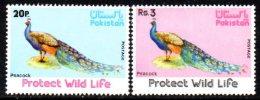 Pakistan 1976 Wildlife Peacocks Set Of 2, MNH (D) - Pakistan