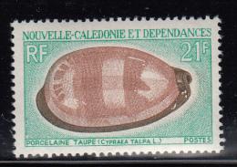 New Caledonia MNH Scott #386 21fr Porcelaine Taupe - Seashells - Nouvelle-Calédonie