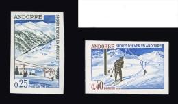 ANDORRE FRANCAIS N° 175/176 ** Sports D´Hiver - Ski. Non Dentelés. Cote 85 €. TTB
