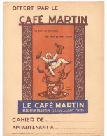 Protège Cahier Le Café Martin Eugène Martin 34, Rue Joubert Paris - Protège-cahiers