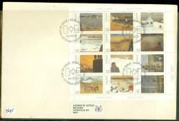 CANADA * FDC BLOK VAN 12 ZEGELS UIT 1984 * FIRST DAY OF ISSUE    (9695) - Omslagen Van De Eerste Dagen (FDC)