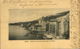 Italia - Cartolina Circolato 1910 A Costantinopoli - Napoli -Posillipo Dal Palazzo Della Regina Giovanna - 2/scans - Napoli (Naples)