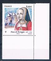 France 2014 - Réf. 4834 - Anne De Bretagne - Coin De Feuille - Neuf** - France