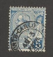 MONACO - N°YT 13 OBLITERATION MONTE-CARLO 13.12.1895  - 1891/1894 - COTE: 8.00€ - Monaco
