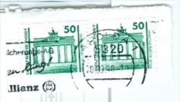 DDR Mi. 3346 Waager. Paar Brandenburger Tor Berlin MWST 09-1990 Apolda (= Deutsche Einheit) - [6] République Démocratique