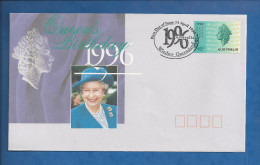 Lettre D´ Australie De 1996 - FDC - Reine Elisabeth II - Obliteration De Windsor Queensland - Royalties, Royals