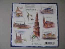 F 4637 * *    CAPITALES EUROPEENNES COPENHAGUE  NOS YT 4637/4640 * * - Nuovi