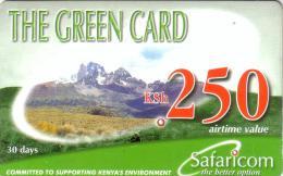 KENYA PREPAID GREEN CARD 250 KSH UT VALID 2003/12/31 - Kenya