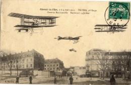 10 CIRCUIT De L'EST 7-8-9 Aout 1910 TROYES 1ère étape Caserne Beurnonville - Boulevard 14 Juillet - Troyes