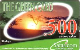 KENYA PREPAID GREEN CARD 500 KSH UT VALID 2003/12/31 - Kenia
