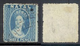 NATAL, 1861 3d No Wmk Rough Perf 14 To 16 VFU, SG12, Cat £40 - Zuid-Afrika (...-1961)