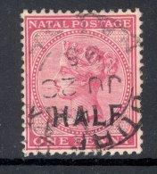NATAL, 1895 HALF On 1d VFU - Zuid-Afrika (...-1961)