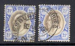 TRANSVAAL, 1904 2½d (ordinary And Chalky Paper, Wmk Mult CA) VFU, SG263, 263b, Cat £17 - Zuid-Afrika (...-1961)