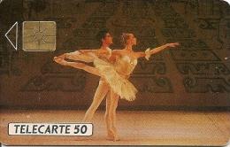 CARTE-PUBLICC-MONACO-50U-MF 08--GEM A-Série A-BALLETS De MONTE CARLO--UTILISE-BE - Monaco