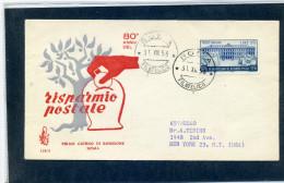 FDC VENETIA 1956 RISPARMIO POSTALE - 6. 1946-.. Repubblica