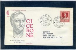 FDC VENETIA 1957 CICERONE - 6. 1946-.. Repubblica