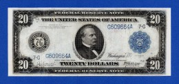 USA 20 $ Dollars 1914 Grover Cleveland P361b Blue Seal Bank Of Chicago VF - Biljetten Van De Federal Reserve (1914-1918)