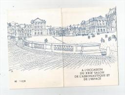 Carte D´inviation , XXIX E Salon De L´AERONAUTIQUE Et De L´ESPACE , Château De VERSAILLES , 1971, 2 Scans - Old Paper