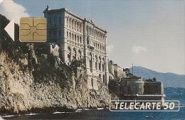 CARTE-PUBLIC-MONACO-50U-MF16-GEM A-MUSEE OCEANIQUE-UTILISE-TBE - Monaco