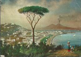 NAPOLI - PANORAMA E  VESUVIO  DELL 800 - NUOVA - PIEGHE  E  IMPERFEZIONI  VARIE - - Napoli