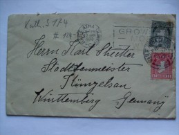 IRELAND 1933 COVER SENT TO WURTTEMBERG GERMANY - Storia Postale