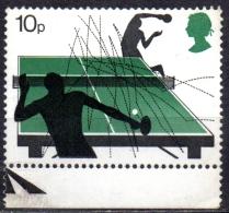 GREAT BRITAIN 1977 Racket Sports - 10p. - Table Tennis MNH - 1952-.... (Elisabetta II)
