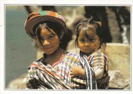 Guatemala - Enfants Du Village De Santiago (carte Fiche Avec Toutes Les Informations Au Verso) - Guatemala
