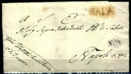 Napoli-00656g - Sala (Consilina) - Bollo Molto Raro!!! - 1. ...-1850 Prefilatelia