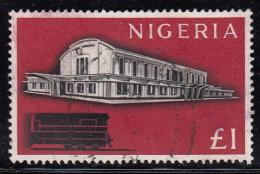 Nigeria Used Scott #113 1pd Lagos Terminal - Nigeria (1961-...)