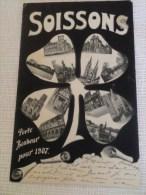 SOISSONS PORTE BONHEUR POUR 1907 - Soissons