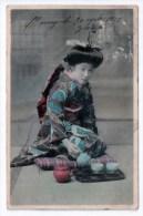 Femme Japonaise Servant Le Thé, 1912, Geisha ? Scan Recto-verso - Japan