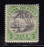 Niue MH Scott #53 1/2p Landing Of Captain Cook - Perf 13, No Wmk - Niue
