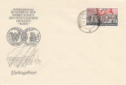 DDR - 1955 , WGB  Konferenz Der Werktätigen Des öffentlichen Dienstes In Wien  -  FDC - FDC: Briefe