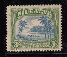 Niue MH Scott #75 3sh Canoe, Coastal Scene - Wmk 61 - Niue