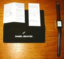 Pub Montre Femme Damart Daniel Hechter Cuir Brun + Notice + Pochette Velours - Reklame