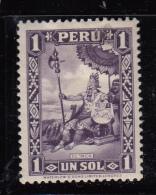 Peru MH Scott #323 1s The Inca - Pérou