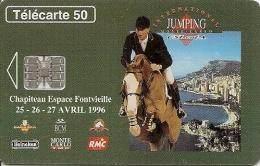 CARTE-PUBLIC-MONACO-50U-MF38-SC7-03/96-JUMPING INTERNATIONAL-V°Gros D N°C63058369-UTILISE-BE - Monaco