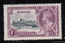 St. Helena MH Scott #114 1sh Windsor Castle - 1935 George V Silver Jubilee - Sainte-Hélène