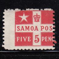 Samoa MH Scott #23a 5p Flag - Perf 11 - Samoa