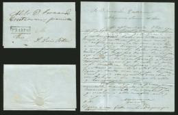 G)1857 MEXICO, SELLO NEGRO, SAN LUIS POTOSI ALQUINES SCH-SL2/3, FRANCO BOX NOT REGISTERED BY SCHATZKES, CIRCULATED COMPL - Mexico